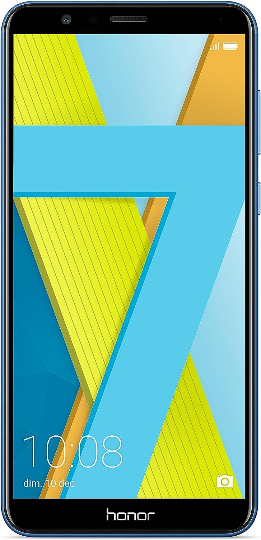 "Honor 7X Smartphone, Blu, 64GB Memoria, 4GB RAM, Display 5.93"" FHD+, Doppia Fotocamera 16+2MP [Italia]"