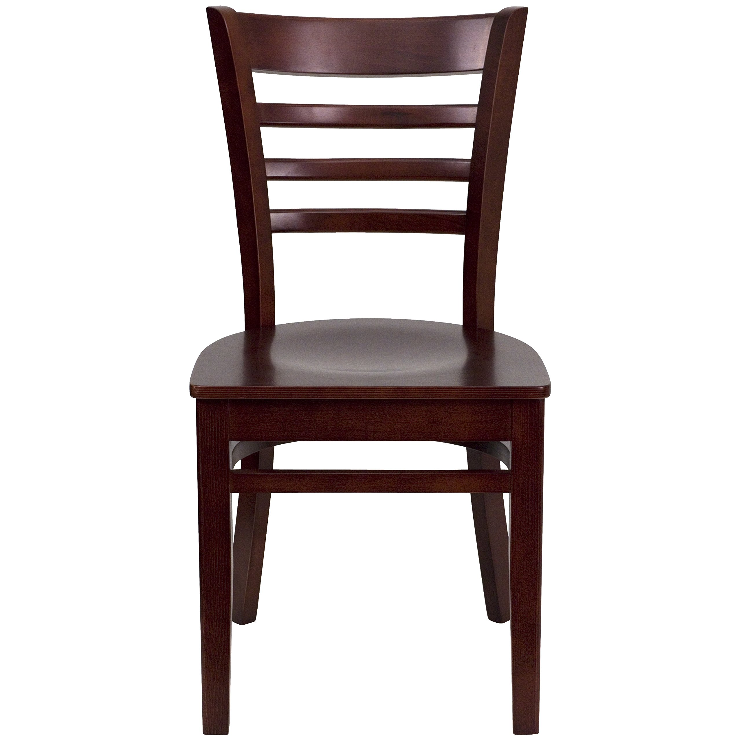Flash Furniture HERCULES Series Ladder Back Mahogany Wood Restaurant Chair by Flash Furniture (Image #4)