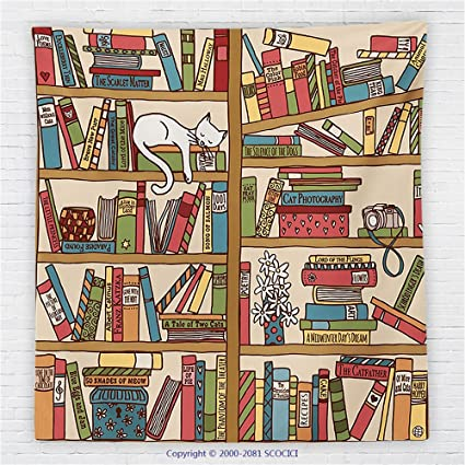 Amazon 40 X 40 Inches Cat Lover Decor Fleece Throw Blanket Nerd Unique Book Lovers Throw Blanket