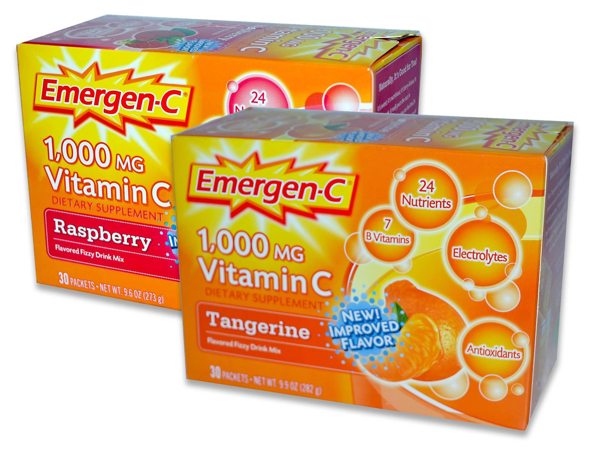 EmergenC, Raspberry/Trangerine, 30 Packets (Pack of 2)