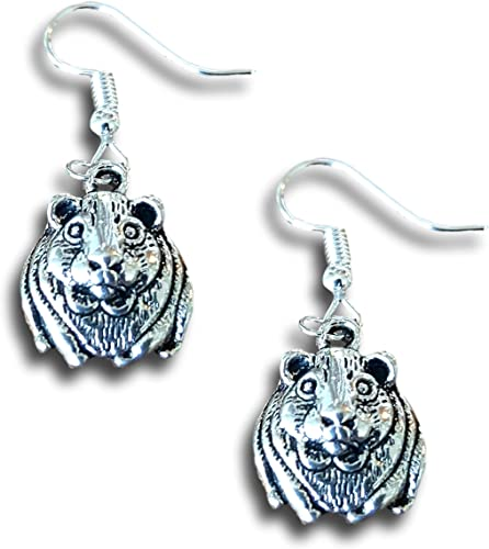 Guinea Pig Design Silver Plated Pendant with Necklace in Gift Box