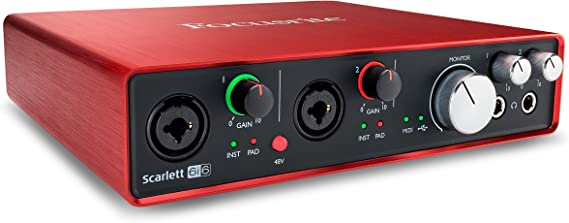 Focusrite Scarlett 6i6 (2nd Gen) USB Audio Interface with Pro Tools | First (Renewed)