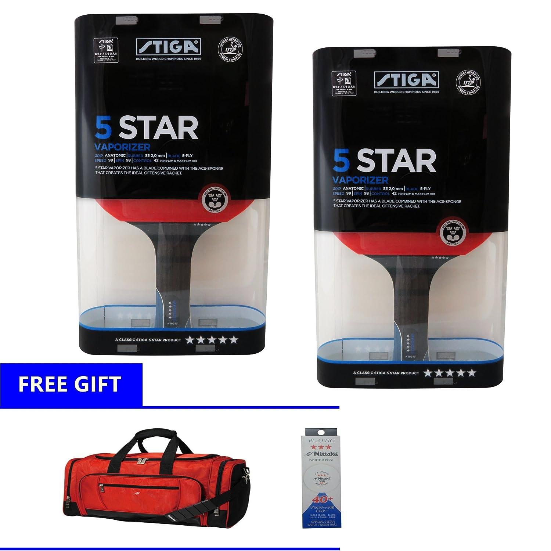 Stiga Vaporizer 5 Starsプレミアムテーブルテニスラケットセット(+ DHL shipping) B0796Z5BFT