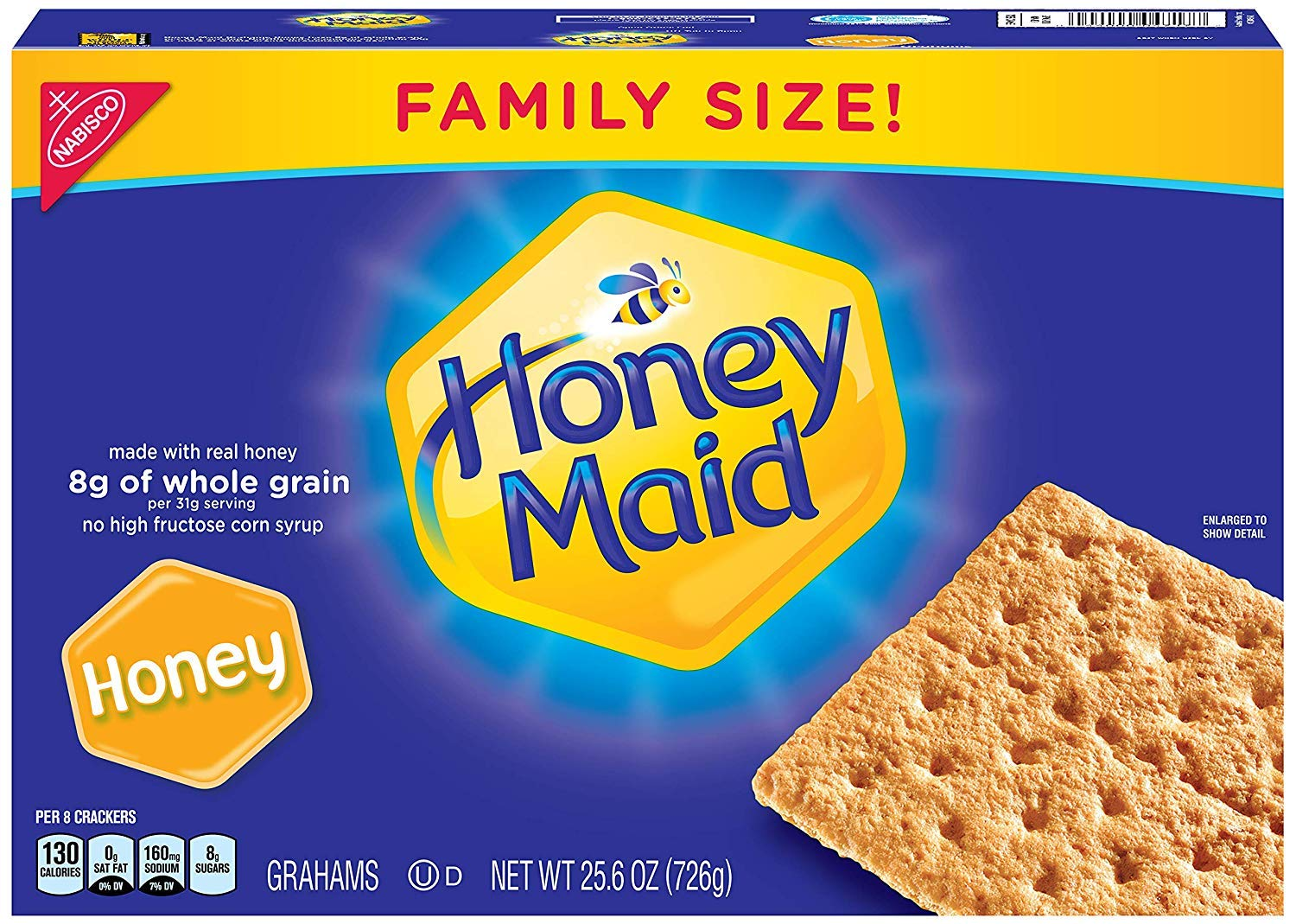 Honey Maid Honey Graham Crackers - Family Size, 25.6 Ounce (2 Pack (Pack of 6))