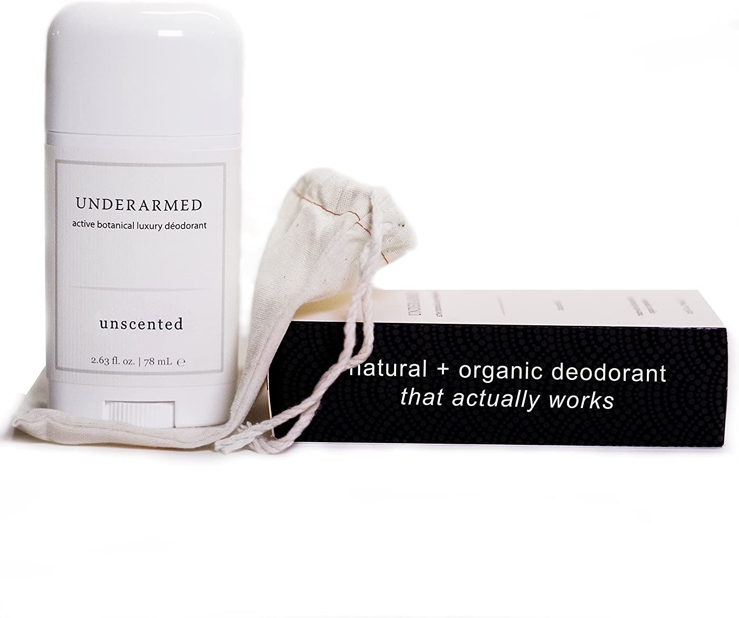 Natural Unscented Deodorant Stick (That Works) Aluminum-Free Underarmed for Women & Men - Stay Fresh All Day - Organic, Healthy, Safe, Non Toxic - Phthalate, Paraben, Gluten & Cruelty Free