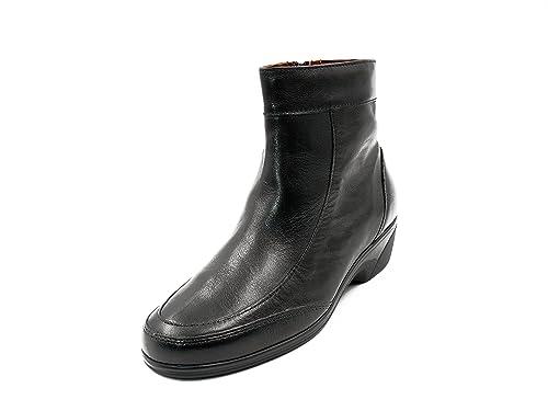 Botines mujer PITILLOS en piel color - cuña media y cierre cremallera - 1414 - 7: Amazon.es: Zapatos y complementos