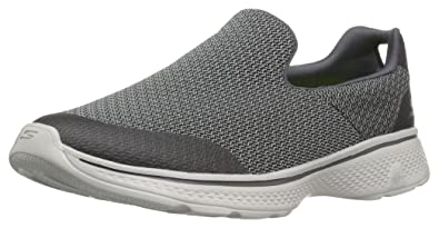 Skechers Go Walk 4, Sneakers Basses Homme - Noir - Noir, 42 3E EU