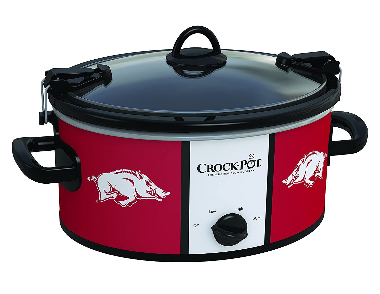 Crockpot SCCPNCAA600-UAR Cook and Carry Slow Cooker, 6 quart, University of Arkansas