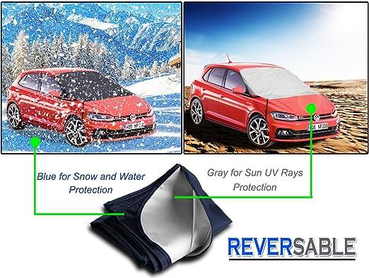 Zento Deals Reversible para parabrisas de coche Protector de nieve ...