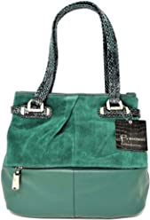 B. Makowsky Women Handbags Tote, Emerald