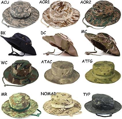 WDRSY Capeline Homme Hommes Tactique Airsoft Sniper Seau Chapeaux M/âle Camouflage /Ét/é Chapeau De Soleil Arm/ée Homme Militaire Randonn/ée P/êche Casquettes