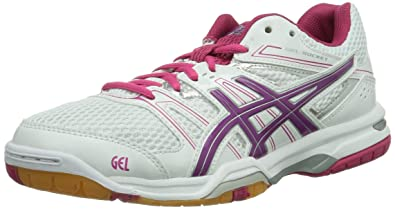 low priced 05fab 851bf Asics Gel-rocket 7, Chaussures de Volleyball Femme, Blanc (White Fuchsia