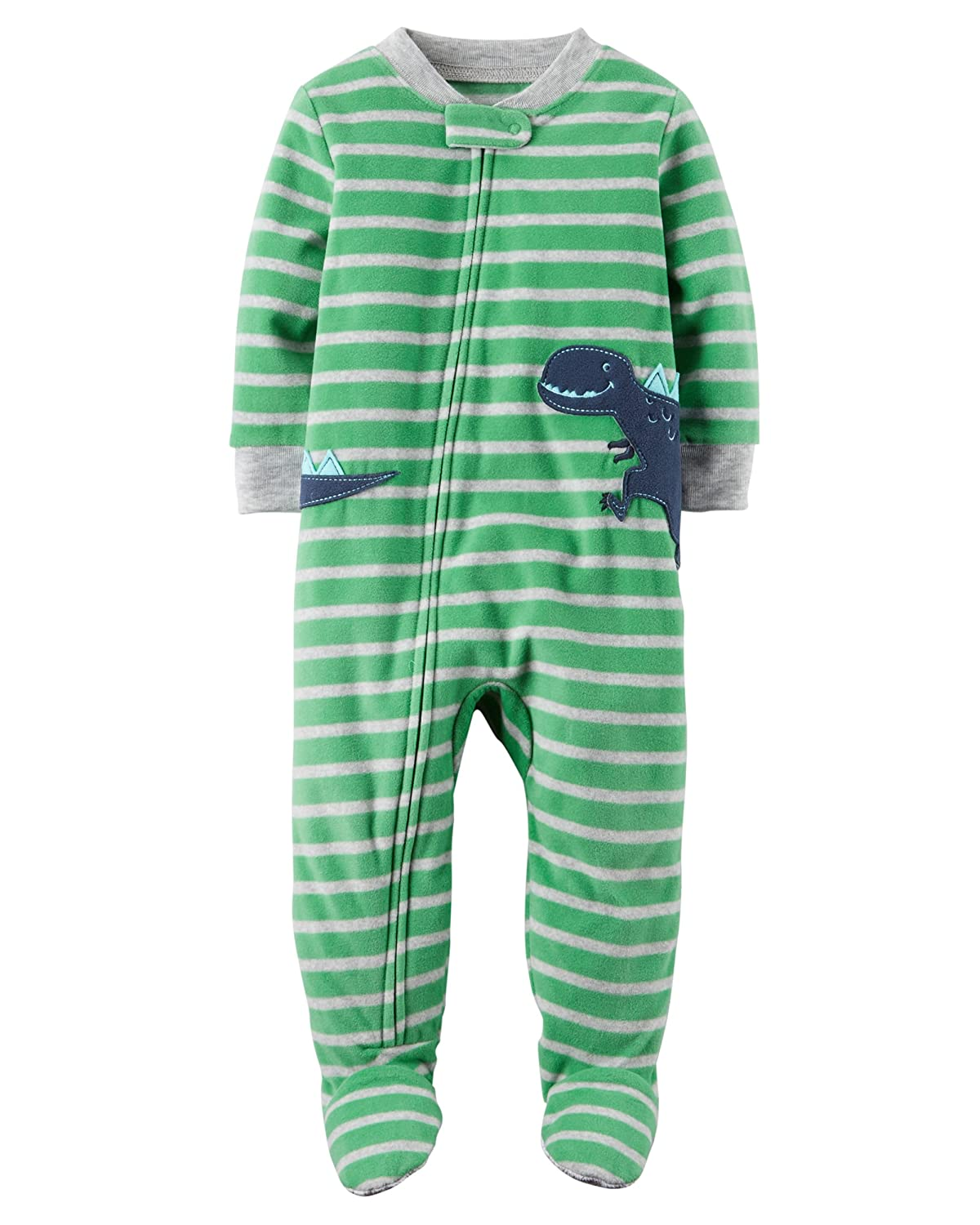 Carter's Boys' 2T-8 One Piece Dinosaur Fleece PJS