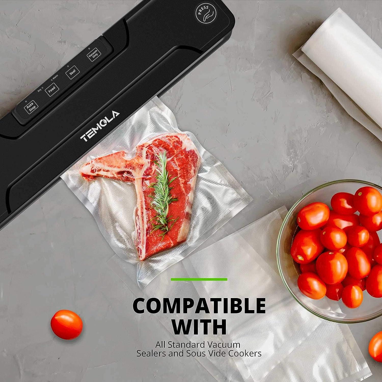 TEMOLA Vakuumbeutel Vakuumbeutel f/ür Lebensmittel 100 Beutel 28 x 40 cm f/ür Vakuumierger/ät BPA-frei Kochen von Lebensmitteln.