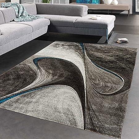 Unamourdetapis - Tappeto da soggiorno Madila, moderno, nero, 160 x 230 cm