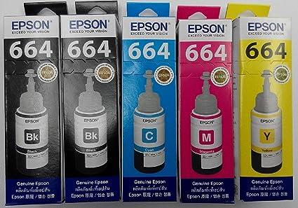Original Epson T664 (T6641 * 2, T6642 * 1, T6643 * 1 & T6644 * 1 ...