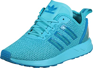 dd6f486f1 adidas Girls Originals Junior Girls ZX Flux ADV Trainers in Light Blue - UK  4