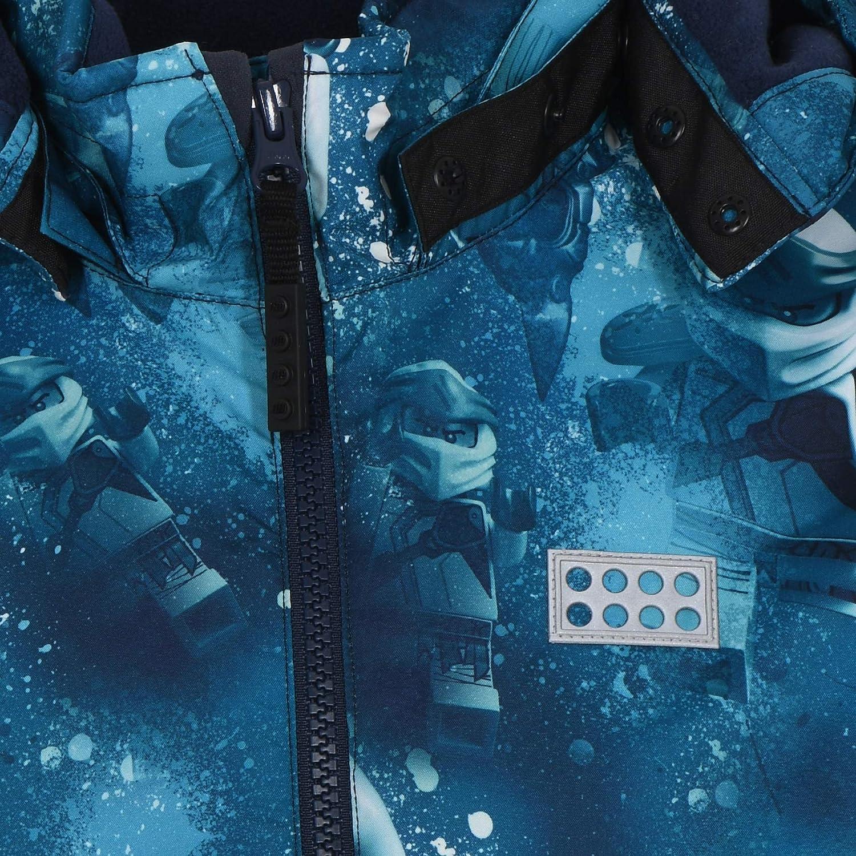 Lego Wear Jungen Lwjoshua Winterjacke Digitaler Lego Ninjago All Over Druck Jacke