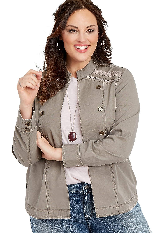 Amazon.com: maurices - Chaqueta militar para mujer (talla ...
