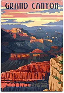 product image for Lantern Press Grand Canyon National Park, Arizona, Sunset View (12x18 Aluminum Wall Sign, Wall Decor Ready to Hang)