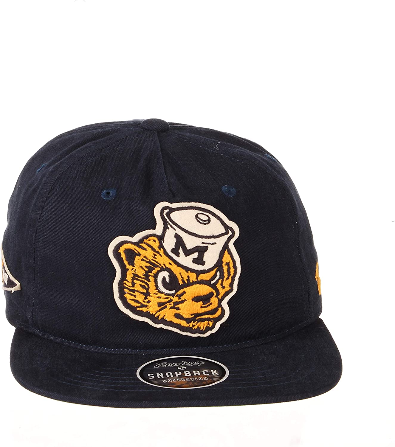 Adjustable NCAA Zephyr Michigan Wolverines Mens Archive Vault Collection Snapback Hat Primary Team Color