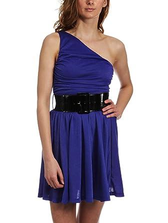 2c47fde9527e Miss Sixty Lix One Shoulder Dress cosmic purple X-Large  Amazon.co.uk   Clothing