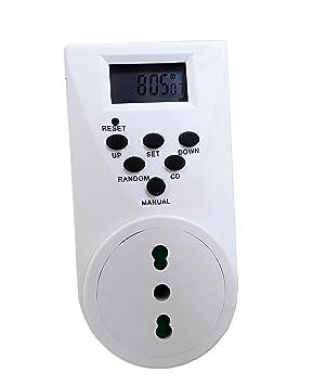 takestop Temporizador programable Toma Eléctrica con Temporizador Digital programable 24 Horas programable Programador