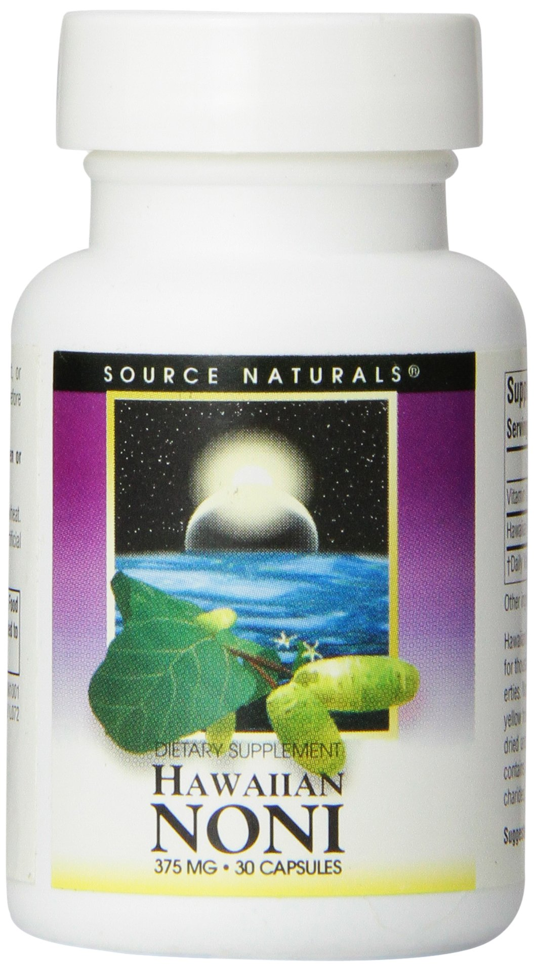 Source Naturals Hawaiian Noni 375mg, Supports Healthy Living, 30 Capsules