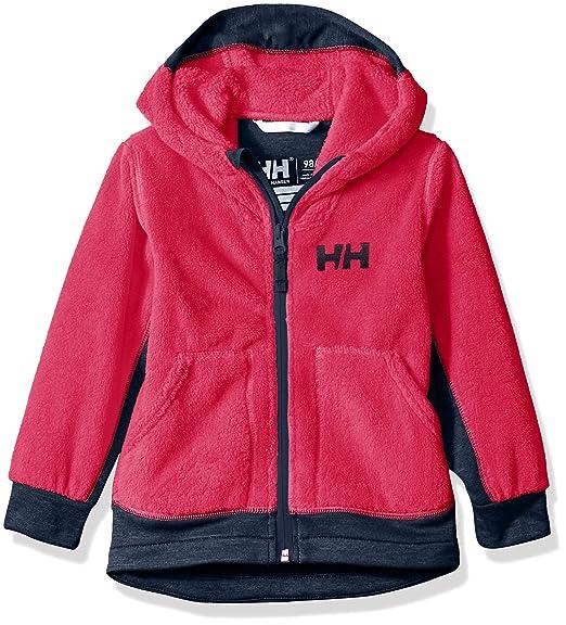 Helly-Hansen Kids /& Baby Chill Hooded Lightweight Full-zip Warm Pile Jacket Coat