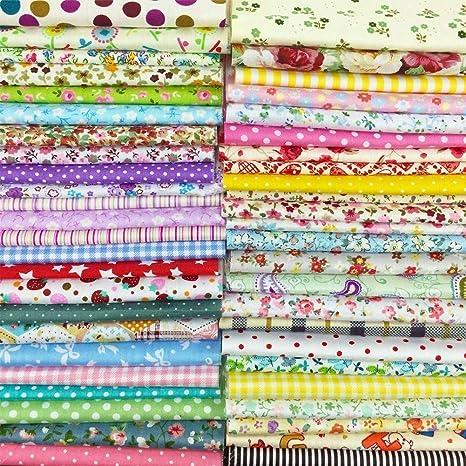 25pcs 30cm * 30cm TOP Tela de algodón Craft Bundle Squares Patchwork Lint DIY Costura Scrapbooking Acolchado Dot Pattern Artcraft