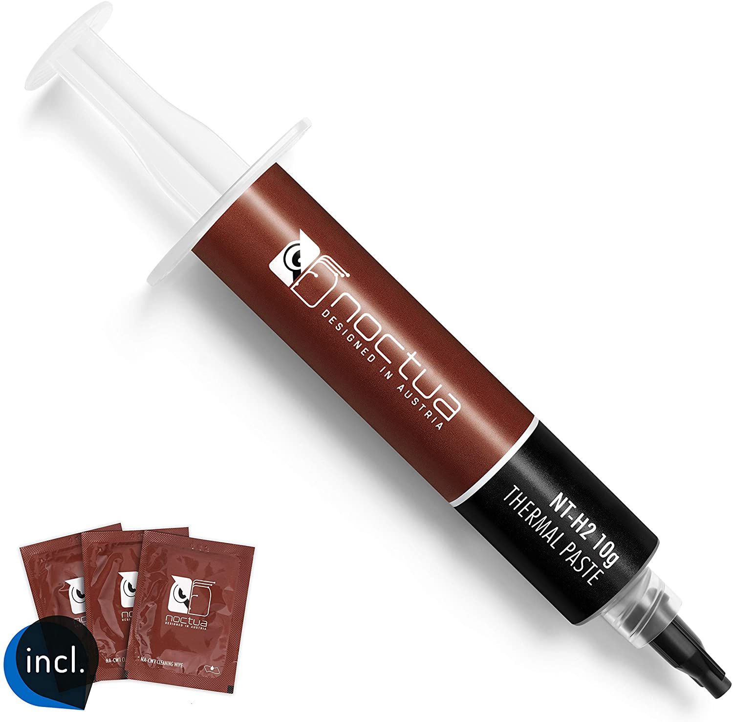 Noctua NT-H2 10g, Pro-Grade Thermal Compound Paste incl. 10 Cleaning Wipes (10g, Gray)