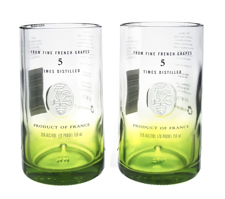 Amazon.com | Ciroc Apple Vodka Reclaimed Bottles Glassware Barware Drinkware Tumbler Glasses Gift Set: Tumblers & Water Glasses