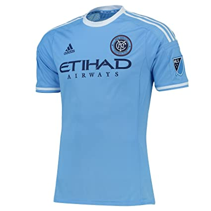 Adidas New York City FC 2016 Authentic Home Jersey [Light Blue] (M)