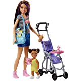 Barbie Babysitting Playset with Skipper Doll,...
