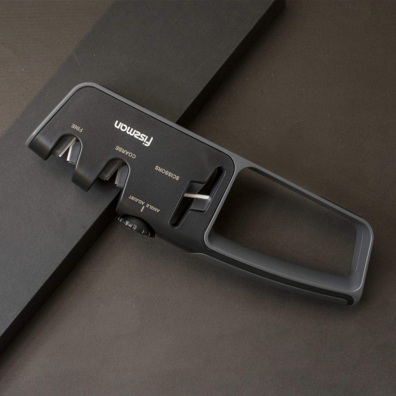 Fissman Knife&Scissors Sharpener Adjustable Angle with 2 Stage Grinder, the Best Gift Ideas for Women and Men, Ideal Kitchen Assist for Knives, Safe& Easy to Use by FISSMAN