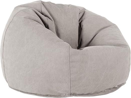 Lounge Pug®, Puff Redondo, Vaquero Desgastado - Gris: Amazon.es: Hogar