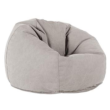 Parfait Lounge Pug®, Pouf Poire Classique, Stonewashed Gris