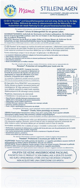 Unsichtbare 1 x 30 St/ück rutschsichere und saugstarke Stilleinlagen f/ür optimalen Schutz Penaten Mama Stilleinlagen