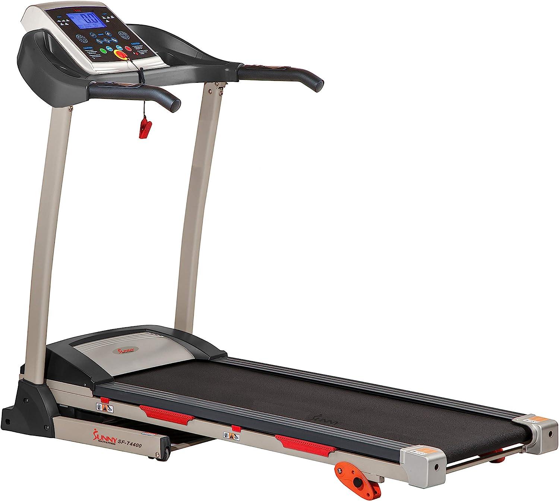 Sunny Health & Fitness Folding Treadmill- Best Treadmill 2021 Under 500