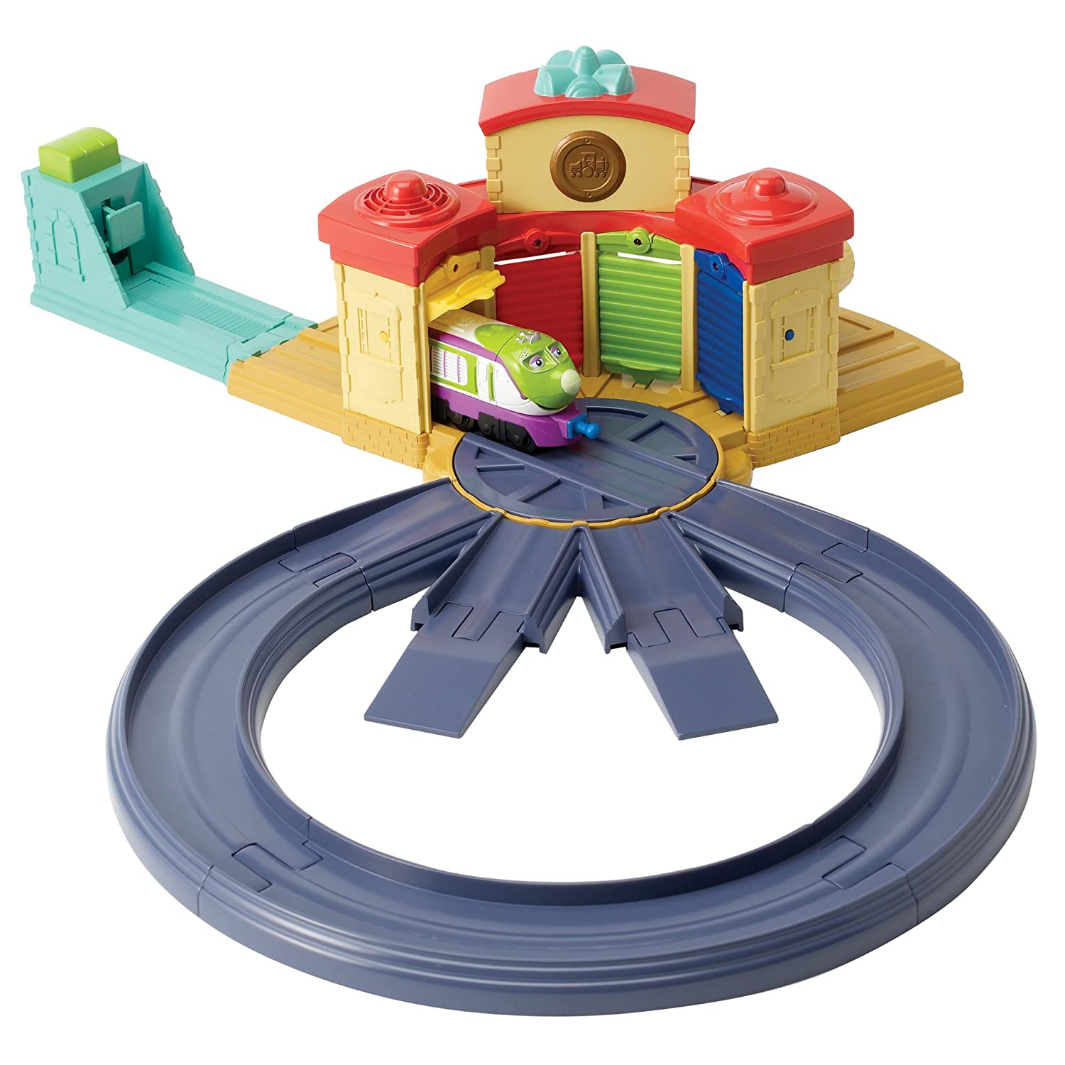 Learning Curve Diecast Chuggington Trainee Roundhouse Playset with ...