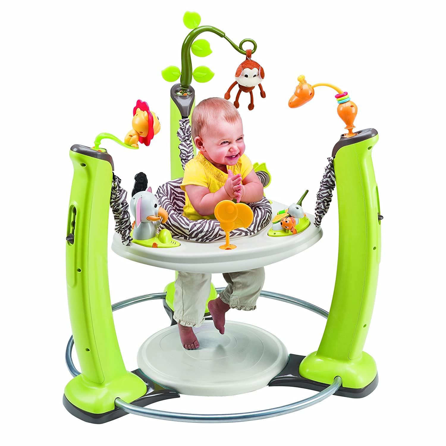 Amazon Evenflo ExerSaucer Jump and Learn Jumper Jungle