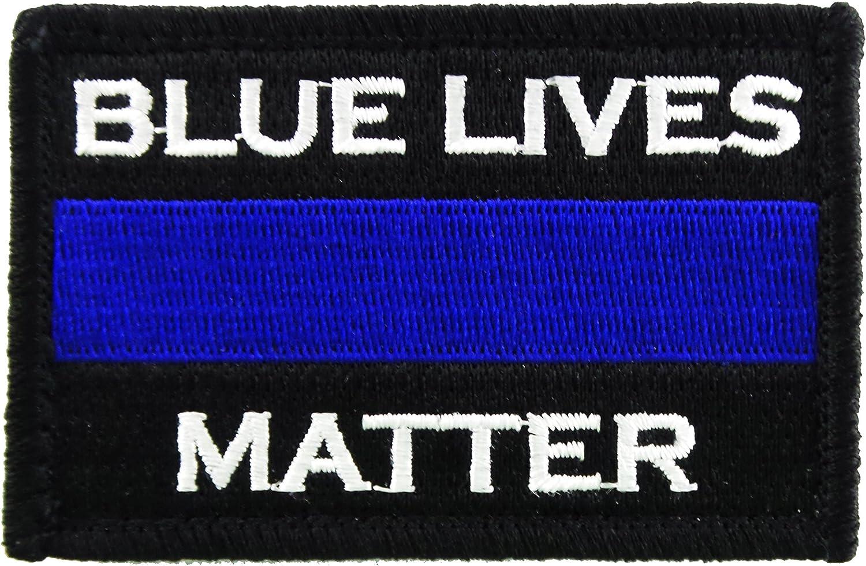 Policía azul vidas Cuestión Delgado línea Azul Velcro Tactical la moral Patch: Amazon.es: Juguetes y juegos