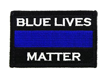 Amazon.com  Police Blue Lives Matter Thin Blue Line Hook and Loop ... 9d1cb402480