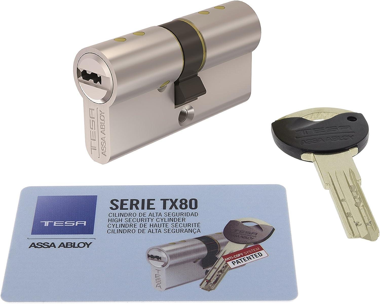 Tesa Assa Abloy, TX854545N, Cilindro de Alta Seguridad, TX80 ...