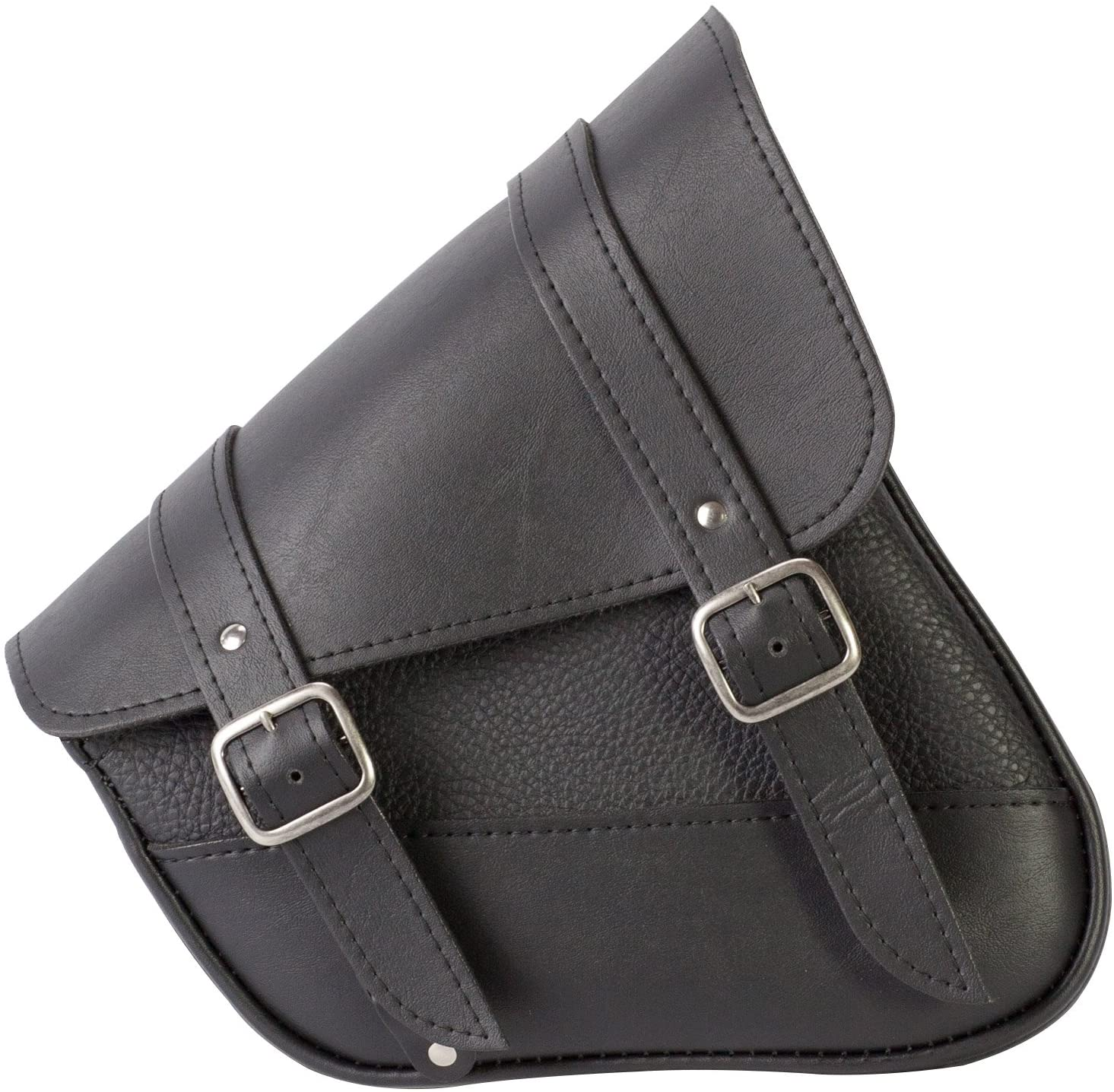 9 Liter Capacity Black Dowco Willie /& Max 59776-00 Triangulated Synthetic Leather Motorcycle Swingarm Bag