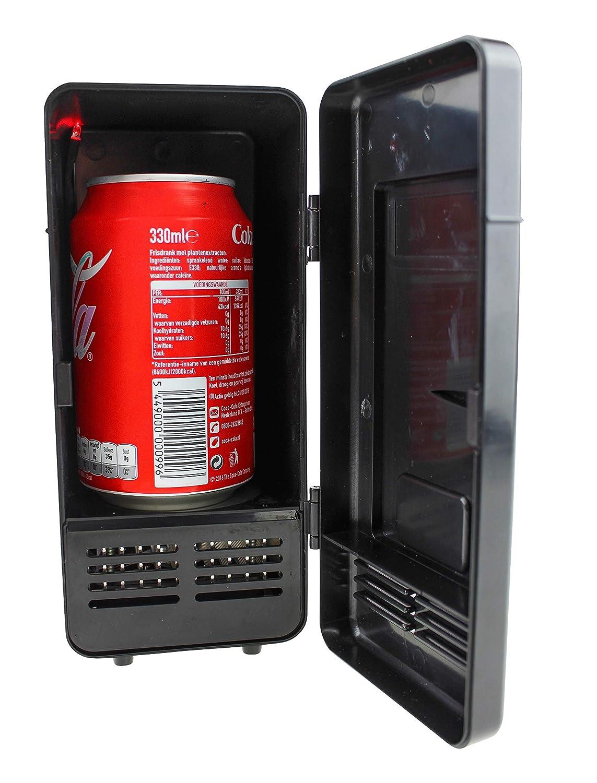United Entertainment - USB Schreibtisch Kühlschrank mit LED Licht - Schwarz