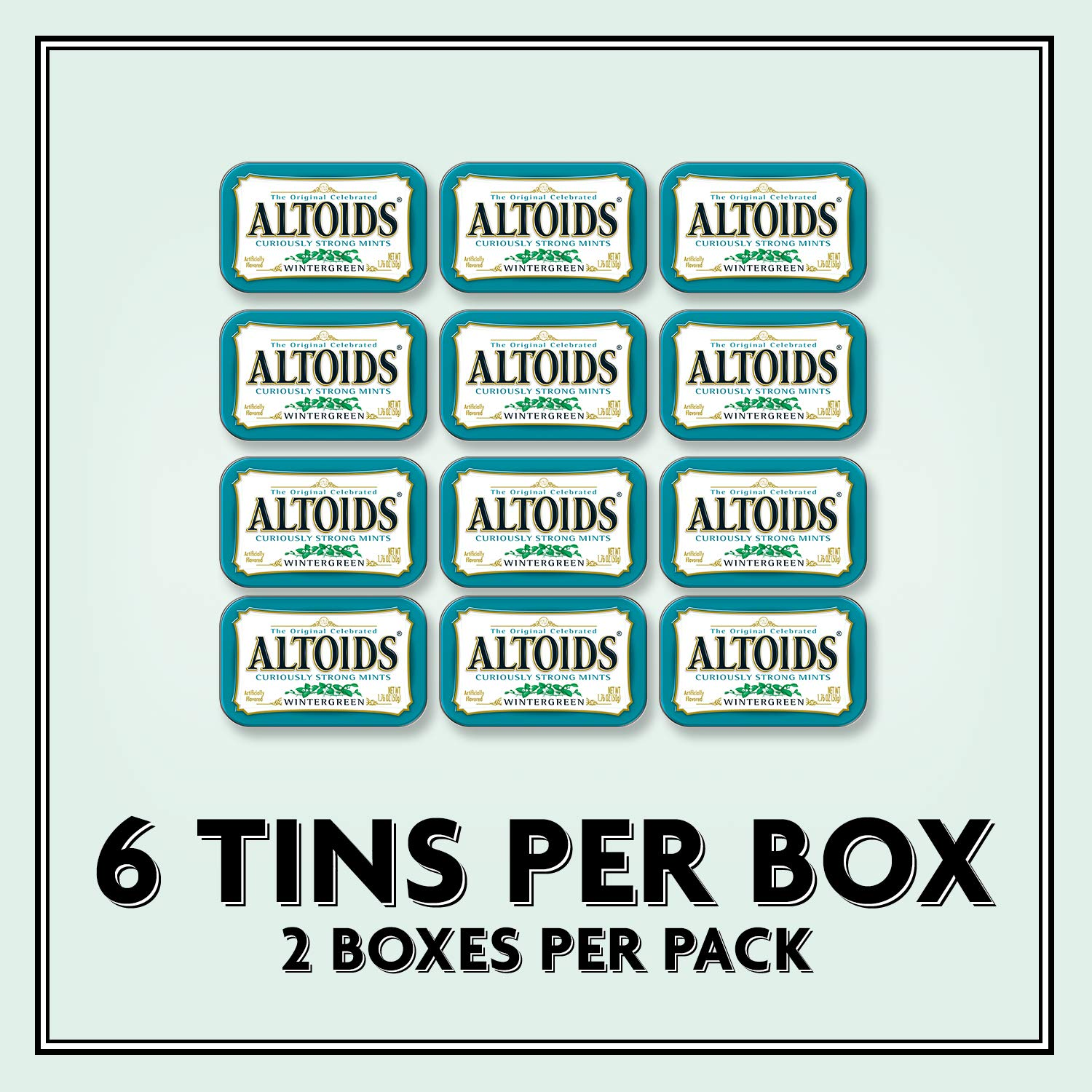 ALTOIDS Classic Wintergreen Breath Mints, 1.76-Ounce Tin (Pack of 12) by Altoids (Image #5)
