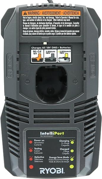 Amazon.com: Ryobi P118 - Cargador de batería de litio para 1 ...