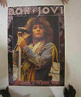 Jon Bon Jovi Poster Slippery When Wet John Early