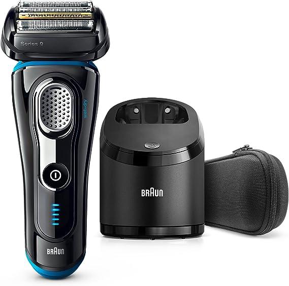 Braun Series 9 9280cc Wet&Dry Máquina de afeitar de láminas Recortadora Negro, Azul - Afeitadora (Máquina de afeitar de láminas, Negro, Azul, Batería, 100-240, 157 mm, 157 mm): Amazon.es: Hogar